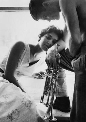 Chet Baker e la moglie Halima
