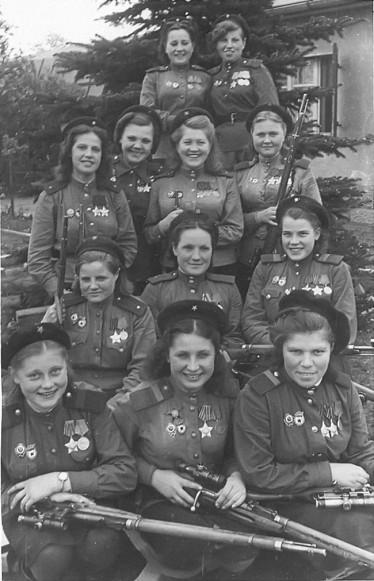 Cecchine della 3° Armata Shock dell'esercito sovietico. [4 Maggio, 1945]