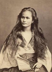Donna meticcia filippina , 1875