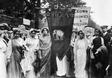 Gruppo di suffragette indiane a Londra 1911