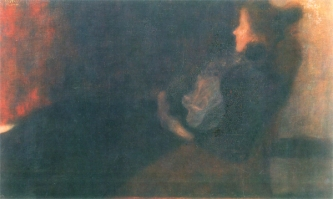 Gustav Klimt - Lady at the fireplace, 1897