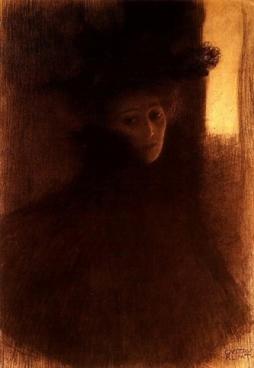 Gustav Klimt - Lady with Cape, 1897