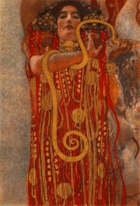 Gustav Klimt - Medicina - Particolare di Igea, 1897