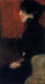 Gustav Klimt - Portrait of a Lady, 1897
