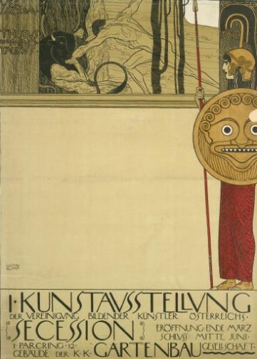 Gustav Klimt - Poster per la prima mostra della Secessione (Teseo e Minotauro), 1898