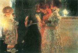 Gustav Klimt - Schubert at the Piano, 1899