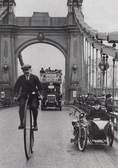Hammersmith bridge Londra 1910