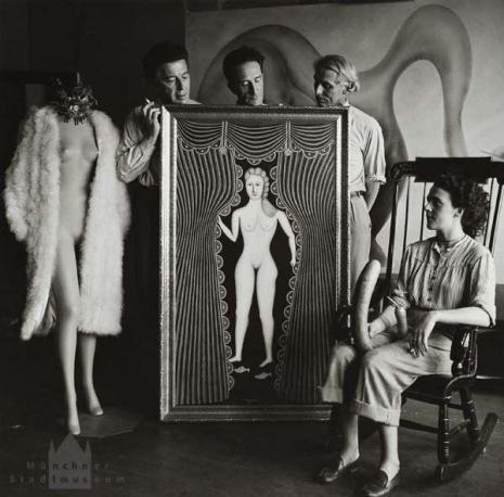 Hermann Landshoff - Leonora Carrington, Ernst, Duchamp, Breton, NY 1942