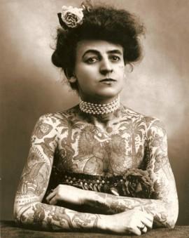 Maud Wagner, la prima tatuatrice nota negli Stati Uniti. [1907]