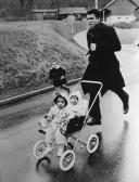 Muhammad Ali a Zurigo con le sue figlie gemelle Jamillah e Rasheda
