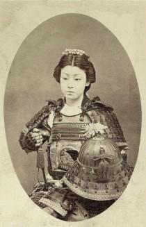 Fotografia di un guerriero samurai. [C. 1800 fine]