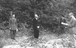 Il dittatore rumeno di estrema destra Ion Antonescu pochi secondi prima di esser giustiziato, 1946