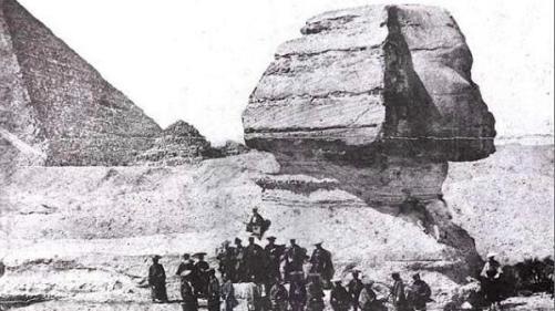 Samurai fotografati davanti alla Sfinge, Egitto, 1864