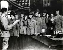 Alcune delle prime donne che giurarono nella US Marine Corps. [Agosto 1918]