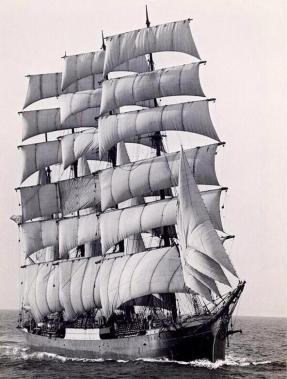 L'ultimo veliero commerciale Pamir nel 1949