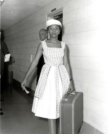 L'attivista Annie Lumpkins nel carcere di Little Rock. [1961]
