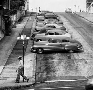 Una strada di San Francisco nel 1940