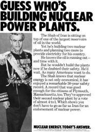 1970, pubblicità di società americane di energia nucleare