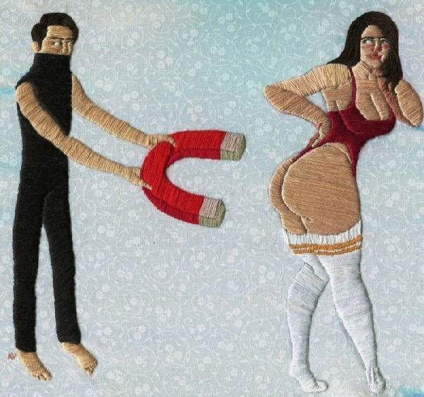 L'arte del ricamo (erotico)dell'artista statunitenseAlaina Varrone