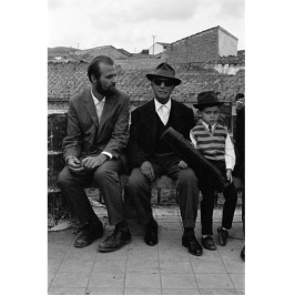 Andreas Fridolin Weis Bentzon - Antonio Lara seduto su una panchina