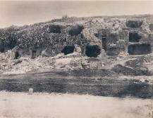 Édouard Delessert - Cagliari, abitazioni nei dintorni (Necropoli di Sant'Avendrace), 1854