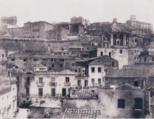 Édouard Delessert - Cagliari, vista del quartiere di Castello, 1854