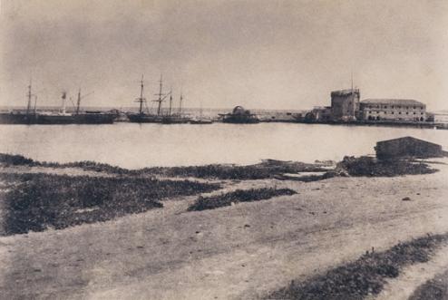 Édouard Delessert - Porto Torres, vista del porto, 1854