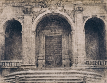 Édouard Delessert - Sassari, Cattedrale (ingresso), 1854