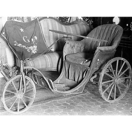 Fondo Costa - Caprera, La carrozzella appartenuta a Giuseppe Garibaldi, esposta nella Casa Museo