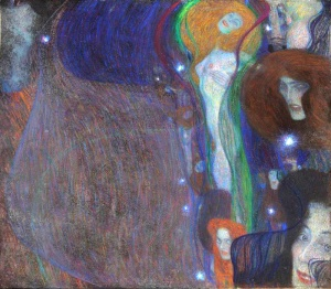Gustav Klimt - Ghost Lights - 1903