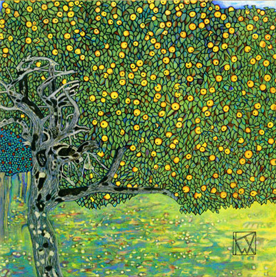 Gustav Klimt - Golden Apple Tree - 1903
