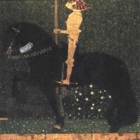 Gustav Klimt - Life is a struggle (The Golden Knight) - 1903