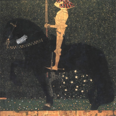 Gustav Klimt - Life is a struggle (The Golden Knight) - 1903