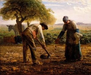 Jean Francois Millet - Piantatori di patate (1861)