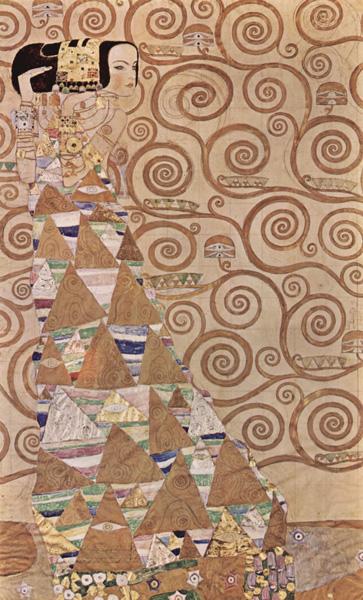 Klimt - Il fregio Stoclet - L'Attesa (1905-1909)
