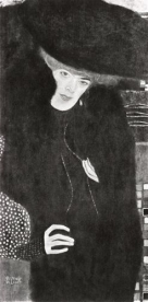 Klimt - Ritratto di donna in rosso e nero (1907)