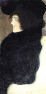 Klimt - Viso pallido (1907)