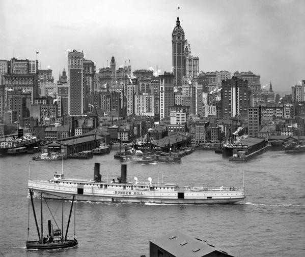 Manhattan, New York City. Circa 1908