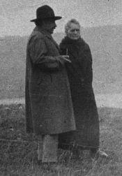 Marie Curie con Albert Einstein