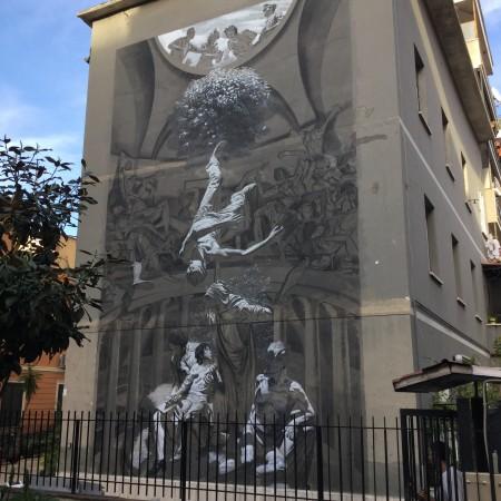 """Hostia""dell'artista italiano Nicola Verlato a Torpignattara (Roma)"