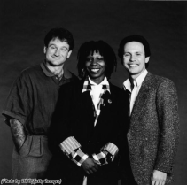 Robin Williams, Whoopi Goldberg e Billy Crystal, 1986