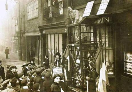 Sylvia Pankhurst. Old Ford Road, Bow. 1912