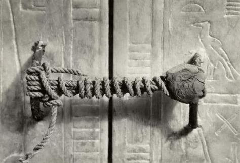 Il sigillo sulla Tomba del re Tutankhamon
