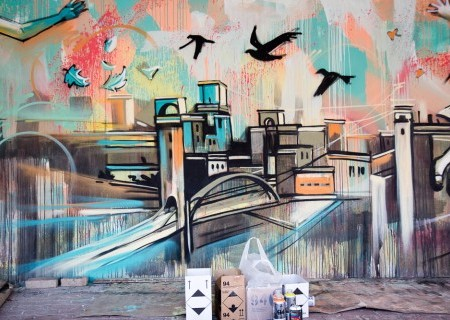 Nuovo muraledell'artista italiana Alice Pasquini (aka AliCè) al Centro Minori stranieri non accompagnati (Roma)