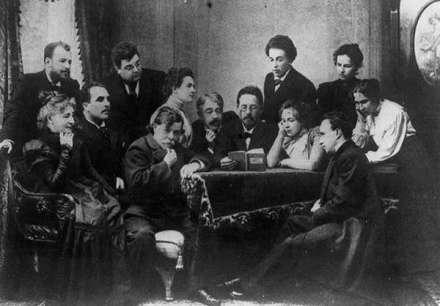 Anton Chekhov legge The Seagull per la compagnia del Teatro delle Arti di Mosca