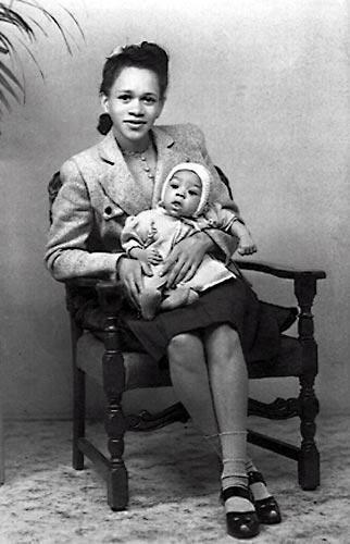 Jimi Hendrix neonato, anni 1940