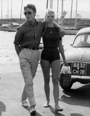 Brigitte Bardot e Alain Delon, Saint-Tropez, 1968