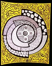 Colorminazione - Pintadera mandala (gialla)