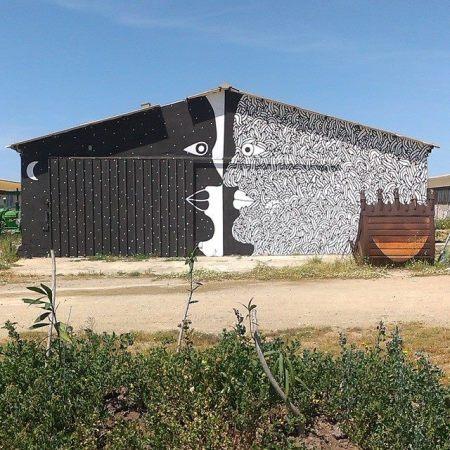 Nuovo murodell'artista italiano Geometric bang a Campidarte