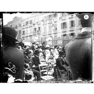 Giulio Pili - Cagliari, Largo Carlo Felice, Feste di Maggio 1899